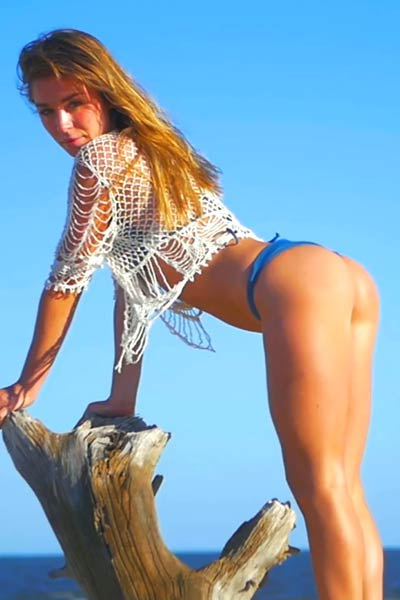Model Lily C in Lifes A Beach