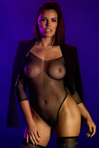 Model Adriana Chechik in Purple Haze